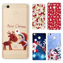 Christmas for Xiaomi Redmi Note 4 Case Santa Claus TPU Soft Back Cover Case for Xiaomi Mi Max 2 Redmi 4X 4A 4 Pro Coque Capa