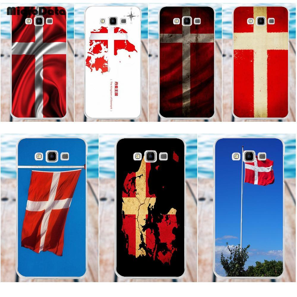 MicroData Danmark Flag Soft TPU Cell Cover Case For Samsung Galaxy A3 A5 A7 J1 J2 J3 J5 J7 2015 2016 2017