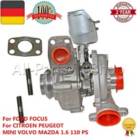 Turbolader Turbolader Für Citroen Berlingo C3 C4 C5 Xsara, Für Ford C-max Focus Mazda 3 Mini R56 R55, Für Volvo C30 S40 2 V50