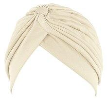Nova moda feminina elástico modal algodão turbante cúpula boné headwear para quimio torção hijab cabeça cachecóis senhoras gorro boné turbante