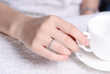 ZOCAI BRAND LOVE CROWN REAL DIAMOND RING 0.31 CT I-J / VS DIAMOND WEDDING RING 18K WHITE GOLD RING W05887