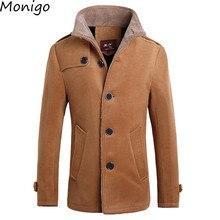 New Men Elegant Woolen Overcoat Winter Parkas Wool Coat Windbreak Wind Coat Slim Fit