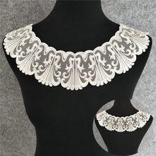 Белое гипюровое кружевное платье, вышивка, тюль, вырез горловины, цветочный кружевной воротник, Стандартная отделка, свадебное платье для н...