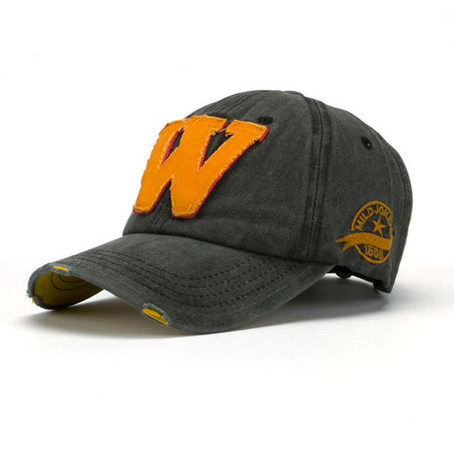 9a2cb1d4f1b Cotton Embroidery W LOGO Baseball Cap For Men Women Snapback Cap Hat Sports  Caps Bone Outdoor Hat Style For Custom Hats
