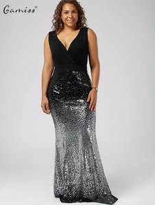 Gamiss Women Plus Size Fishtail Dress Maxi Mermaid Dresses 4688d2c92b7a