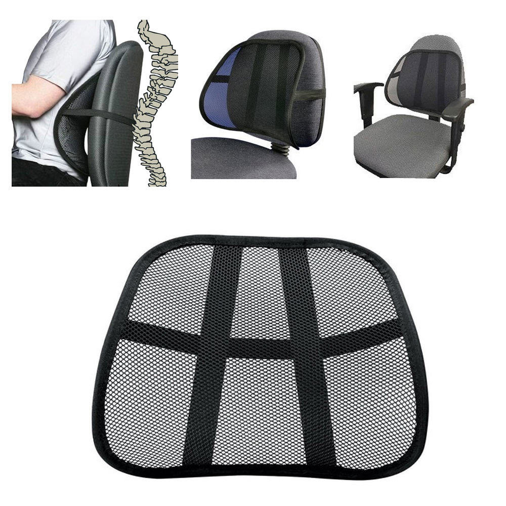 Aliexpress com buy vent cushion mesh back lumbar support seat office chair car seat lumbar protector cushion black use for all seasons from reliable back