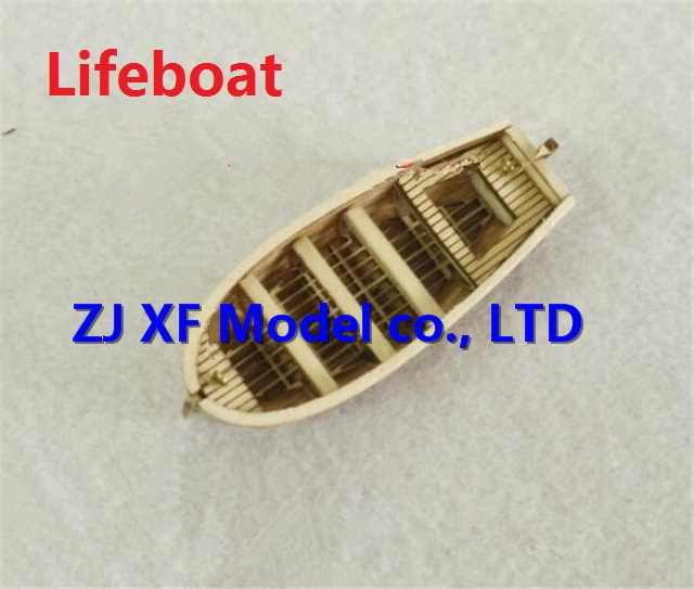 NIDALE model Scale 1/100 Halcon1840 Mini lifeboat wooden model  / finished sail / Brass updates Not include the boat model
