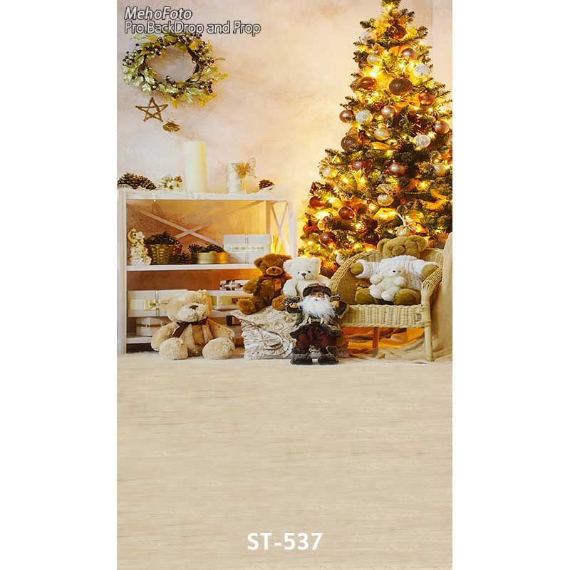 Christmas background vinyl photography backdrops Computer Printed christmas fire place tree and Gift box for Photo studio ST-537 white 3d decorations xmas tree hall fireplace room backdrops vinyl cloth computer printed christmas photo studio background
