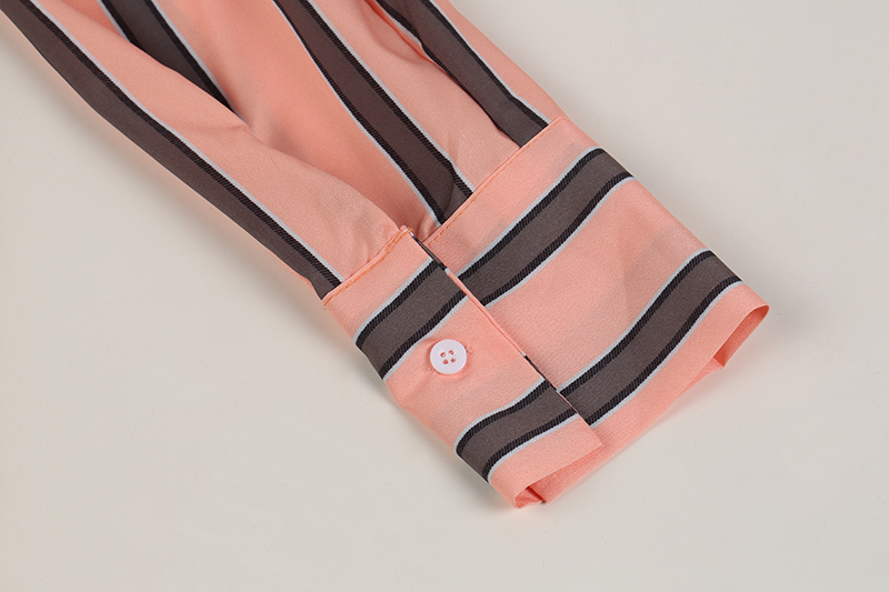 Striped Blouse One Shoulder Tops Sexy Long Sleeve Bow Shirts 22