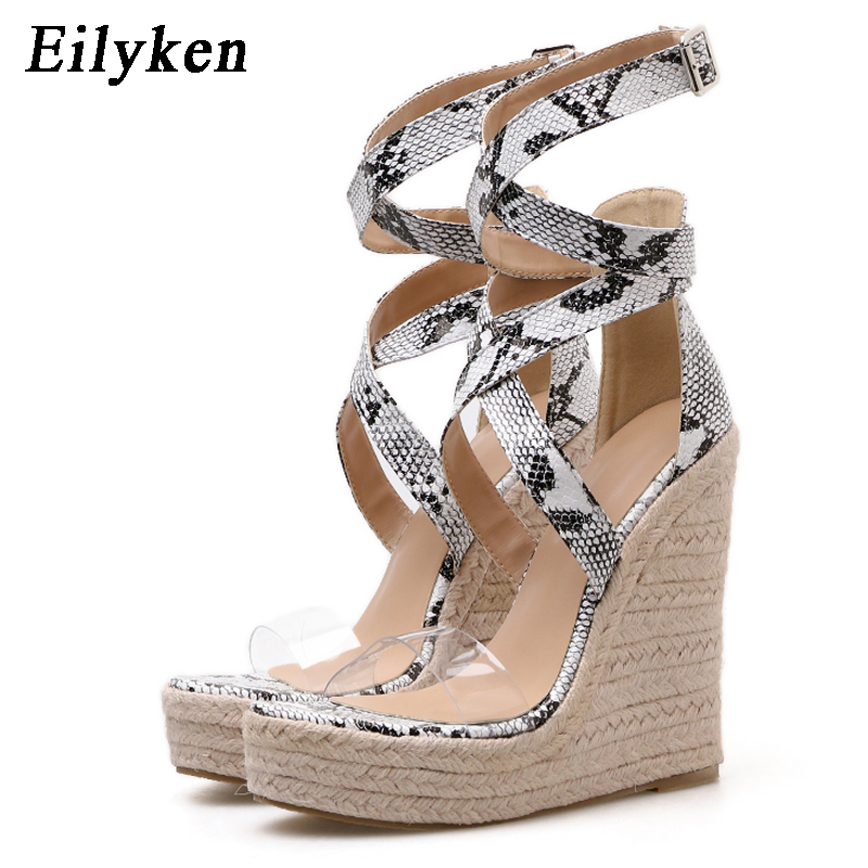 Eilyken Platform Women Sandals Buckle Strap Rome Wedges Sexy Serpentine Peep Toe Fashion Ladies Casual Sandals Shoes Size 35-42 Eilyken Platform Women Sandals Buckle Strap Rome Wedges Sexy Serpentine Peep Toe Fashion Ladies Casual Sandals Shoes Size 35-42