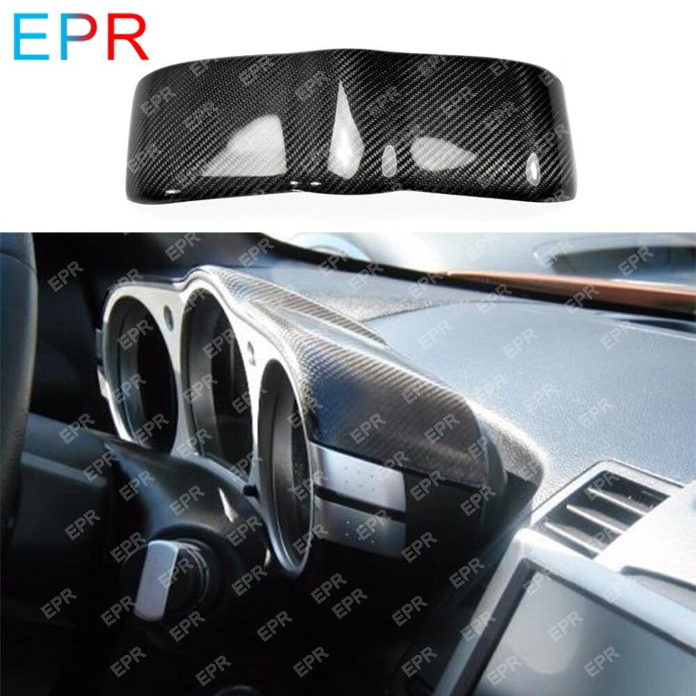 닛산 350z z33 탄소 섬유 다이얼 대시 커버 바디 키트 자동차 스타일링 자동차 튜닝 부품 350z 다이얼 대시 커버