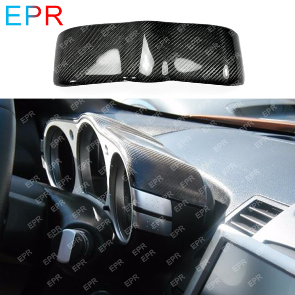 Dla Nissan 350Z Z33 z włókna węglowego pokrętło Dash pokrywa zestaw karoserii Car Styling Tuning część dla 350Z Dial Dash pokrywa