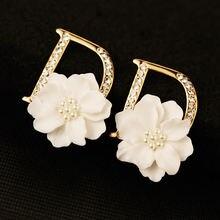 Блестящий цвет под золото большая буква d смола белый цветок