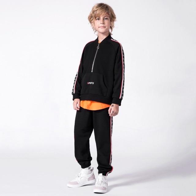 7a8d2fe4c MD-133 primavera otoño niño niña ropa chaqueta + Pantalones 2 Unid trajes  adolescente niños