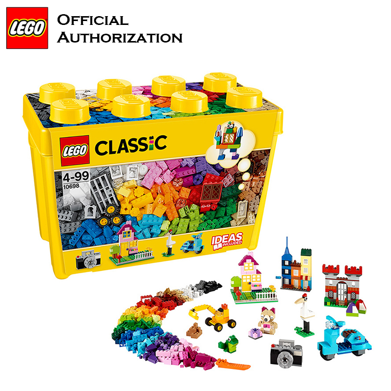 Tobay <font><b>Lego</b></font> Building Blocks <font><b>Classic</b></font> Series 790 pcs Accessories Toys <font><b>10698</b></font> Storage box Colorful Block Toys for Kids Birthday image