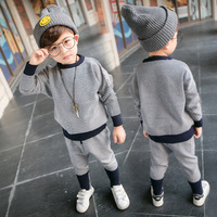 New 2017 Autumn Winter Girls Sweater Clothing Set Children Knitted Harem Pants Outerwear Baby Boys Clothing