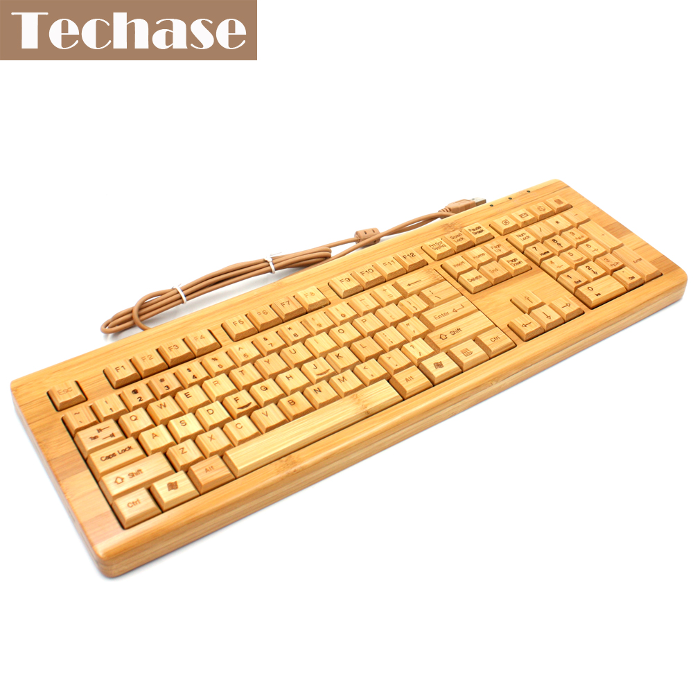 Bamboo Keyboards Wired 108 Keys Ergonomics Multimedia with Numeric Keyboard For Laptop Office Desktop Gaming Teclado 2.4Ghz Wood sigma sigma 100 400mm f5 6 3 dg os hsm contemporary полнокадровой телефото зум объектив для съемки птиц лотоса nikon байонет объектива