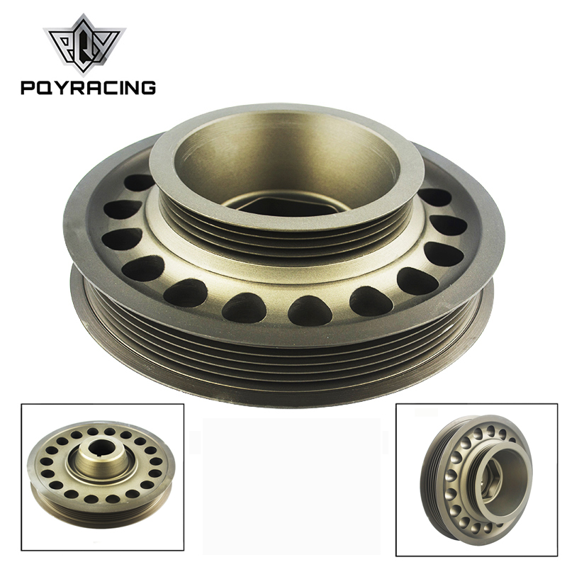 PQY Light Weight Aluminum Crankshaft Pulley OEM Size For 93 01 Honda Prelude H22 VTEC PQY