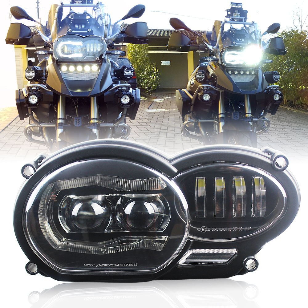 For BMW 2005-2012 R1200GS / 2006-2013 R1200GS Adventure LED Projection Headlight Fits For Oil R1200GS