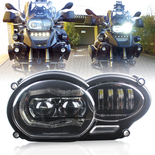 For BMW 2005 2012 R1200GS / 2006 2013 R1200GS Adventure LED Projection Headlight fits for Oil R1200GS