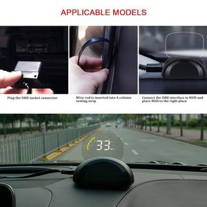 Image 5 - C700 OBD2 HUD רכב ראש למעלה תצוגה עם עגול מראה דיגיטלי מקרן רכב מד מהירות על לוח מחשב דלק קילומטראז טמפ