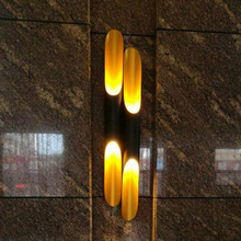 Modern wall lights for bedroom hallway lamp golden luxury High quality source double pipe bedside Freeshipping to Russia