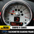 Car styling diamond Tachometer metal quality Car Interior stickers For MINI Cooper R50 R53 R55 R56 R60 R61 Countryman Clubman