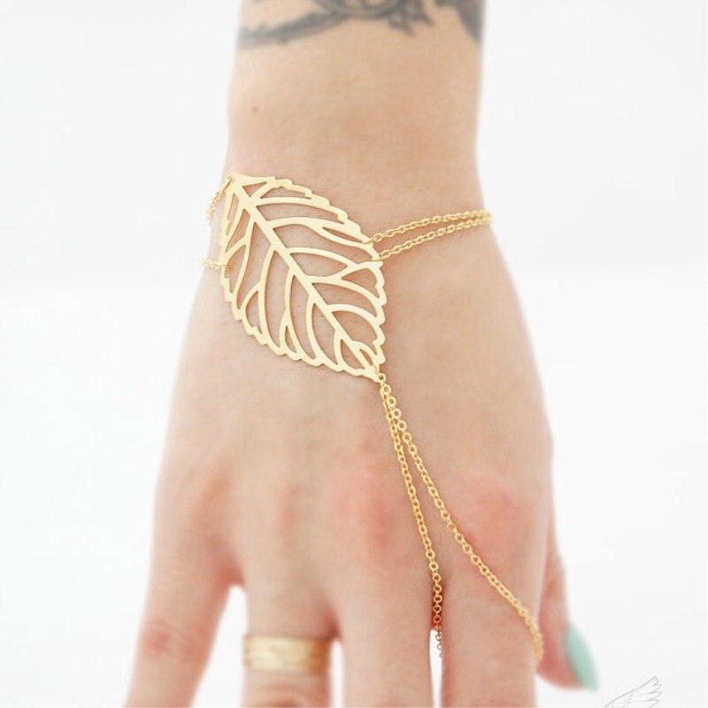 European and American leaves jewelry simple ladies bracelet 4BD108
