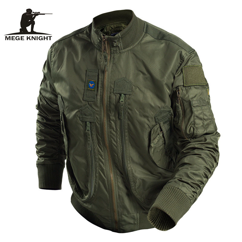 Plus Size 7XL 8XL Mens Jackets And Coats Spring New Military Jacket Stand Zipper Collar Both
