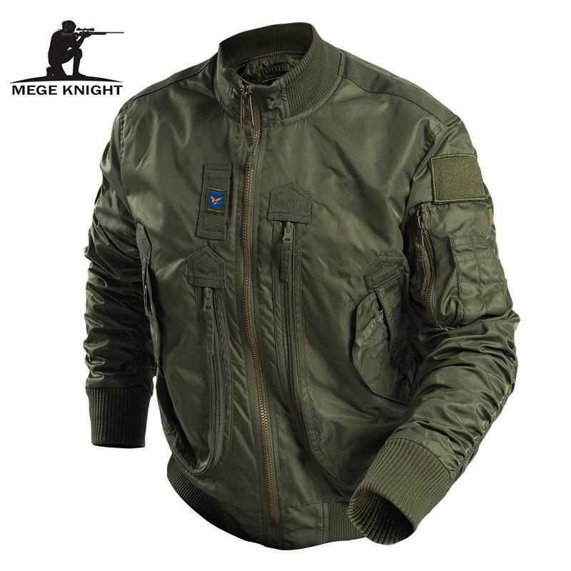 Mege marka mężczyźni taktyczne odzież militarna modna kurtka Bomber armia Parka na zewnątrz wiatroszczelna Multipockets Airsoft bojowe znosić w Kurtki od Odzież męska na  Grupa 1