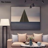 Nórdico Oceano 100% pintado à mão Pintura A Óleo Abstrata Moderna Grande tamanho Da Arte Da Lona Decoração de Casa Arte Da Parede Pictures for Living quarto
