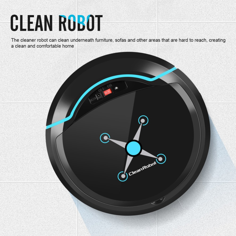 Mini Wet Dry USB Rechargeable Sweeper Smart Sweep Robot Automatic Mop Machine Wireless Floor Vacuum Cleaners Household Cleaning vacuum machine sealing machine vs2110gb household miniature automatic wet and dry vacuum seal machine 220v 110w 1pc
