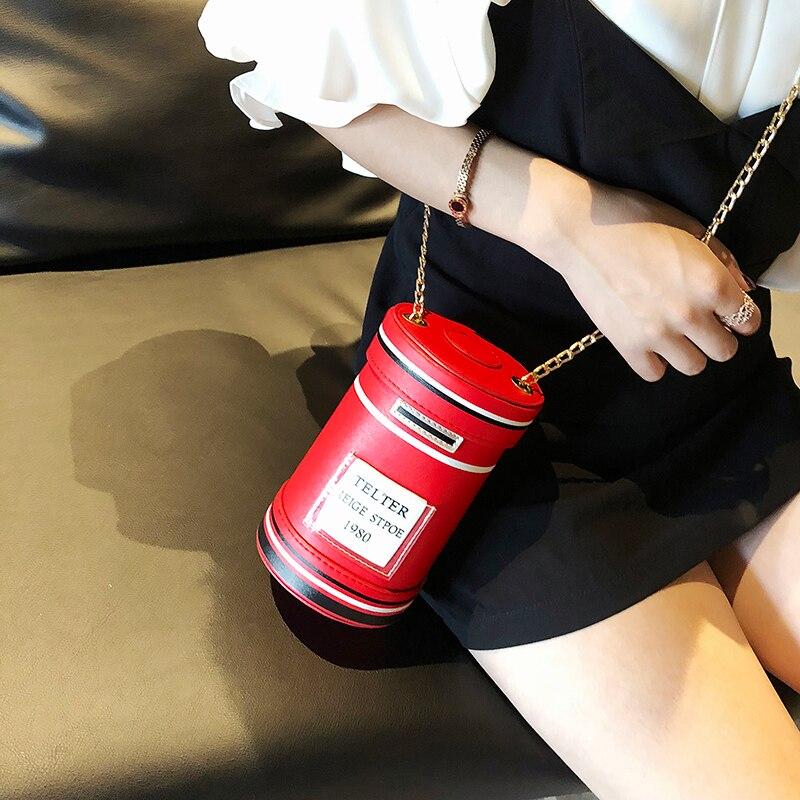 grigio Borse Rosso Il chiaro Nuovo Spalla A Secchio azzurro Bekasnoew Stile Casella Britannico Nero Di Donne Posta Modo Profondo Versatile Tracolla rosso Iqw0wgUfA