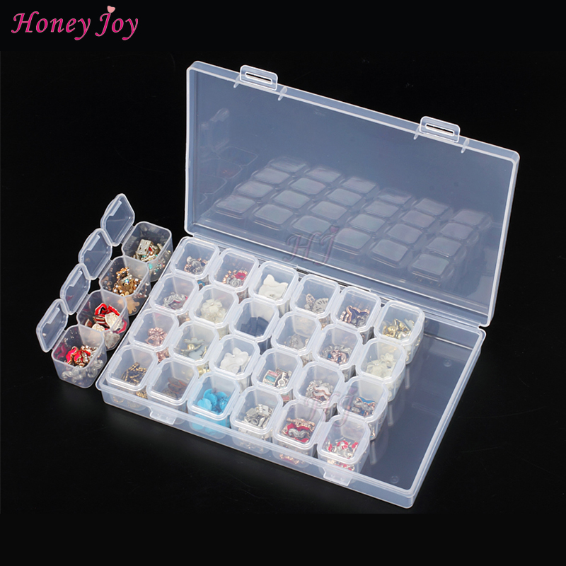 Independent Well Locked 28bottles/set Nail Art Decals Decoration Jewelry Rhinestone Storage Case Box Container Manicure Accessor