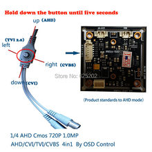AHD/CVI/TVI/CVBS 4 in 1 1/4 CMOS Module 720P 1.0MP with OSD function HDI890A+H42