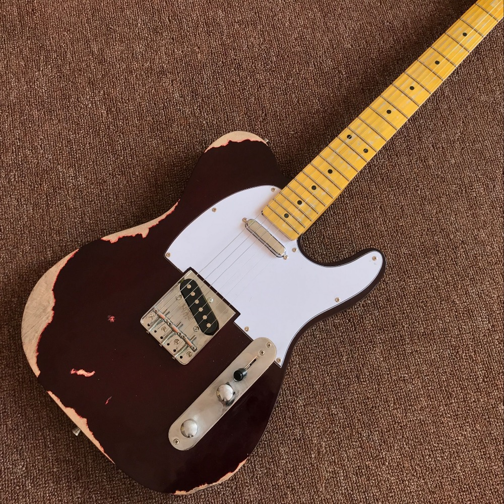custom shop,TELE 6 Strings Maple fingerboard Electric Guitar, elecaster gitaar relics by hands guitarra.real photos199 (1)custom shop,TELE 6 Strings Maple fingerboard Electric Guitar, elecaster gitaar relics by hands guitarra.real photos199 (1)
