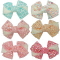 "Boutique Rhinestones Hair Bows With Clips For Girls Kids Hair Accessories 12 pieces/lot 4"" ZH12-14081415"