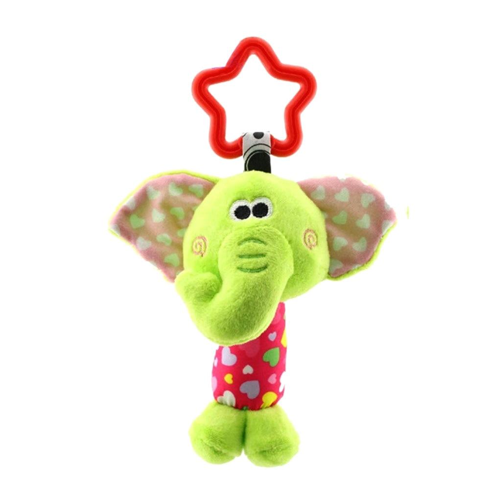 Enfants jouets en peluche coloré Animal suspendu lit berceau poussette apaiser poupées hochets saisir jouet garçon fille bébé enfants cadeau-17 M09