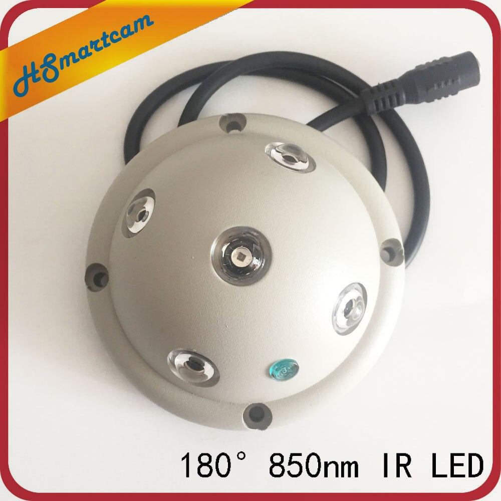 5 IR LED illuminateur infrarouge lumière IR Vision nocturne pour caméras de sécurité CCTV remplir éclairage dôme Ultra grand Angle 180 IR 850nm