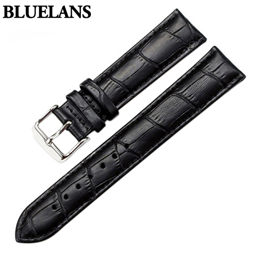 Watch Band Women Men Unisex Faux Leather Watch Strap Buckle Band Watch Belts Black Brown White 18mm 20mm 22mm Watchband цена