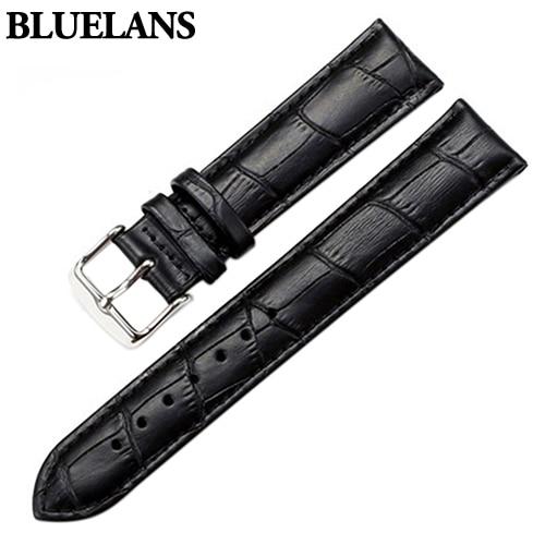 Watch Band Women Men Unisex Faux Leather Watch Strap Buckle Band Watch Belts Black Brown White 18mm 20mm 22mm Watchband