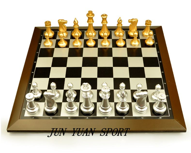 ФОТО Hot! International Chess Chinese Checkers Magnetic High-grade plating gold and silver Chess Game Non-folding board