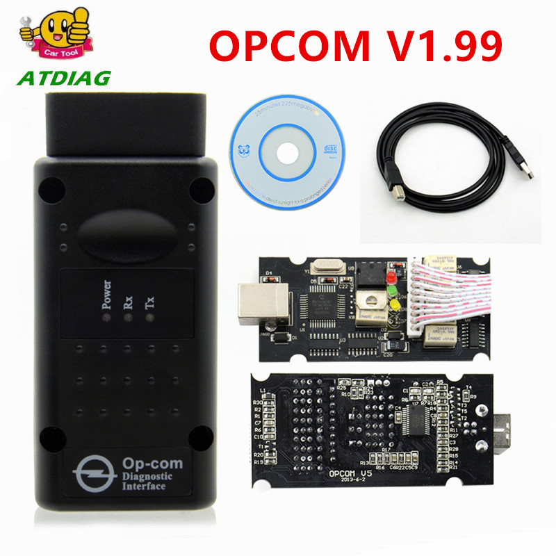 2019 OPCOM 1.65 1.70 V1.78 1.95 1.99 For Opel Diagnostic Scanner OP COM V1.59 CANBUS OP-COM OBD2 super scanner free shipping(China)