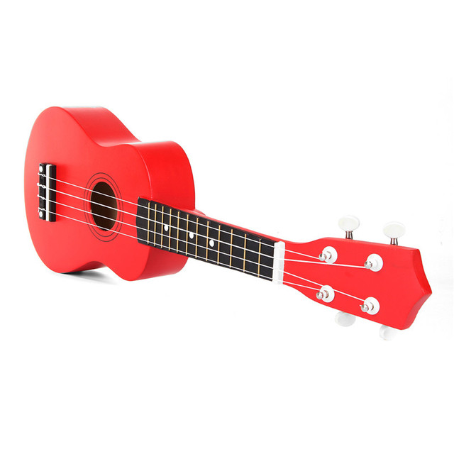 Red Soprano Ukulele with Tuner and Strap