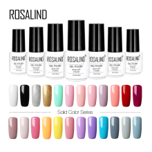 ROSALIND 7 ml Gel Vernis Hybride Ongles Art Vernis Semi Permanent UV Gel Nail Set Polonais Pour Manucure Soak Off top Base Blanc Gel(China)