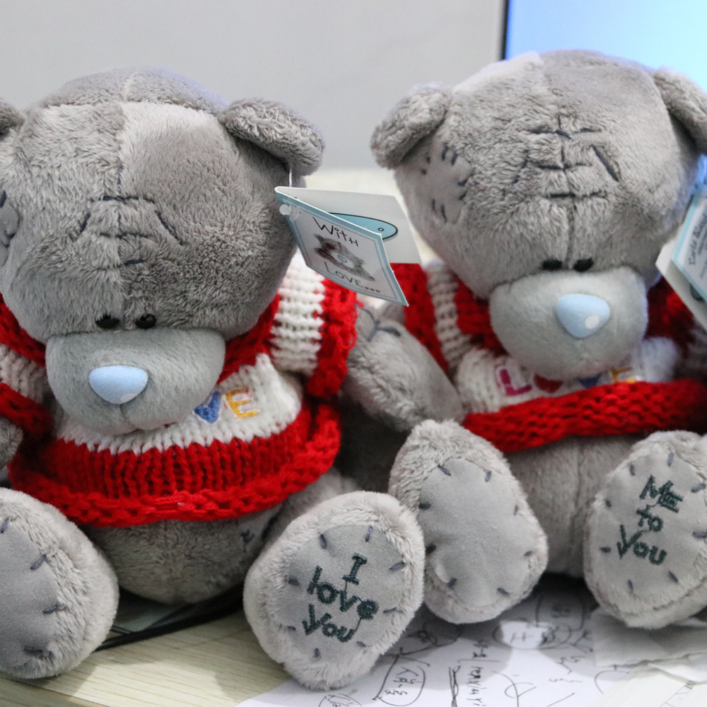 1pieces 8inch Cartoon Plush Tatty Teddy Bear Toys Jumbo Stuffed Dolls me to you Bears valentine's day Baby&Kids Gift