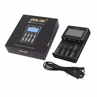 GOLISI 4 Slots 2A Smart LCD Battery Charger Charging for Li ion 18650 26650 AA & AAA Ni MH Ni cd Rechargeable Batteries Hot Sale