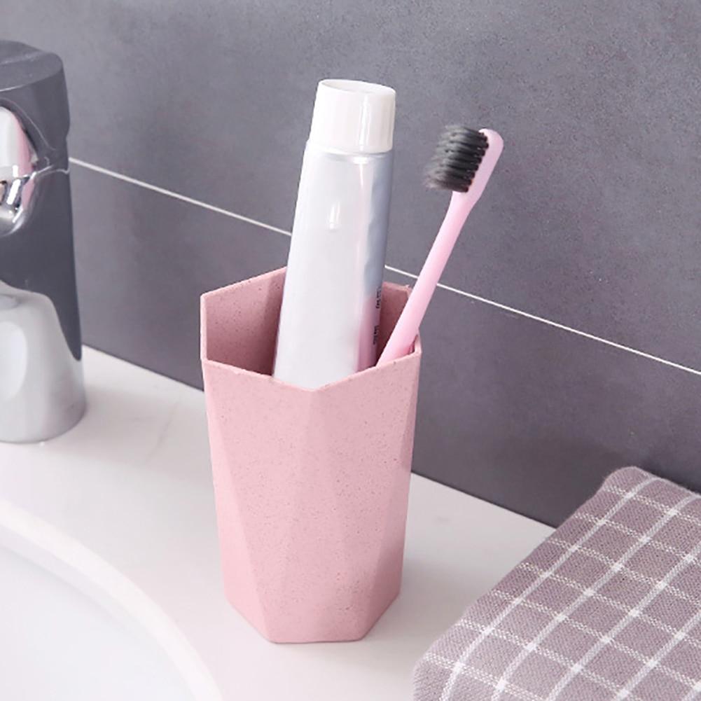 Eco-friendly Wheat Straw Gargle Mug Tooth Brush Home Travel 18