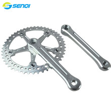 Single Speed Fixed Gear 48T CNC Chainring Crank Sprocket Aluminum Alloy Bicycle Crankset CZY008
