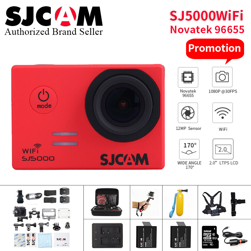 SJCAM SJ5000 Wi-Fi действие Камера 1080P Full HD Sports DV 2,0 дюйма для дайвинга 30 м Водонепроницаемая мини камера регистратор SJ 5000 спортивные Cam Камара